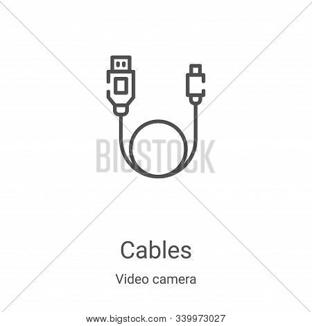 cables icon isolated on white background from video camera collection. cables icon trendy and modern