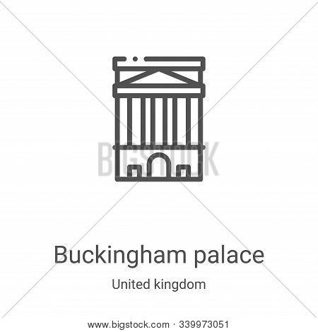 buckingham palace icon isolated on white background from united kingdom collection. buckingham palac