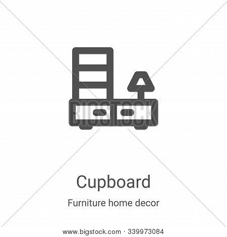 cupboard icon isolated on white background from furniture home decor collection. cupboard icon trend
