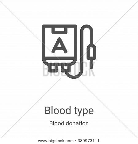 blood type icon isolated on white background from blood donation collection. blood type icon trendy