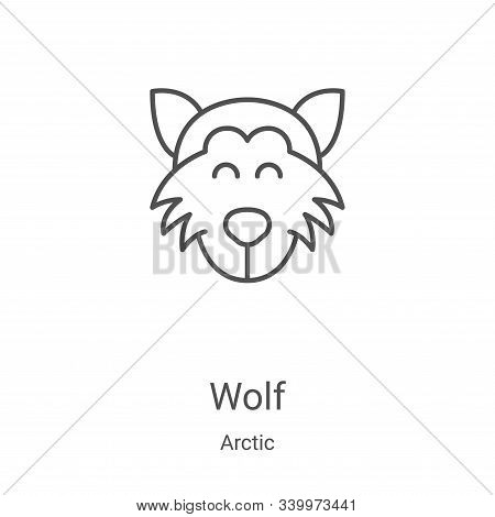 wolf icon isolated on white background from arctic collection. wolf icon trendy and modern wolf symb