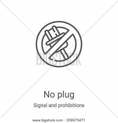 no plug icon isolated on white background from signal and prohibitions collection. no plug icon tren