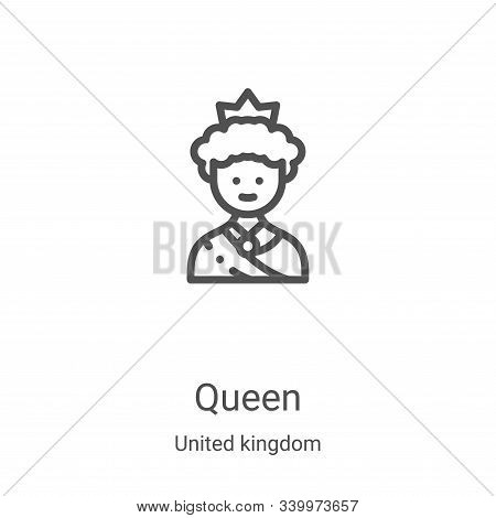queen icon isolated on white background from united kingdom collection. queen icon trendy and modern