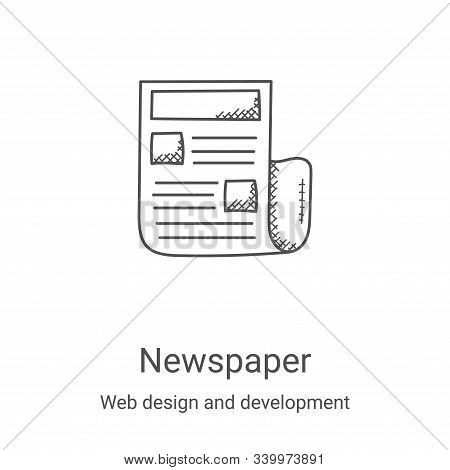 newspaper icon isolated on white background from web design and development collection. newspaper ic