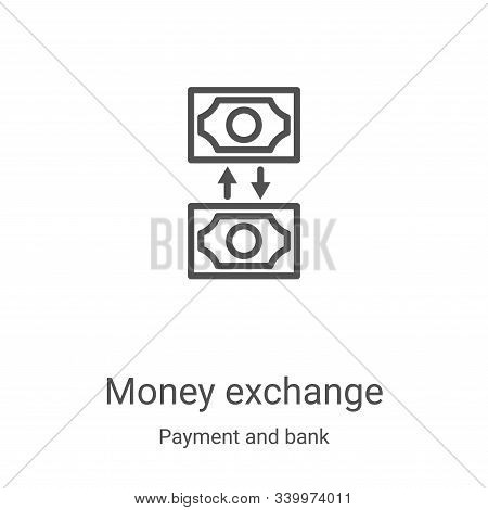 money exchange icon isolated on white background from payment and bank collection. money exchange ic