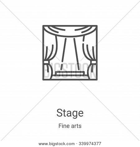 stage icon isolated on white background from fine arts collection. stage icon trendy and modern stag