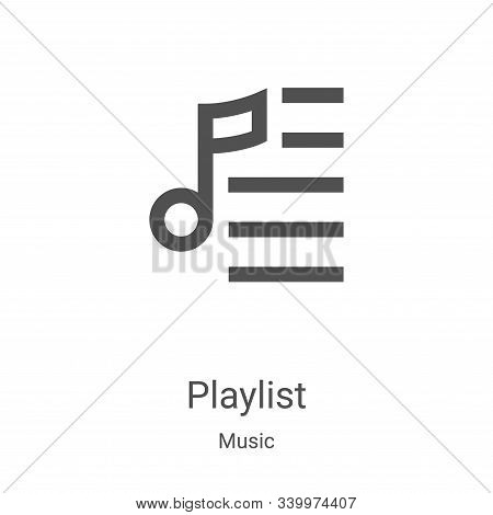 playlist icon isolated on white background from music collection. playlist icon trendy and modern pl
