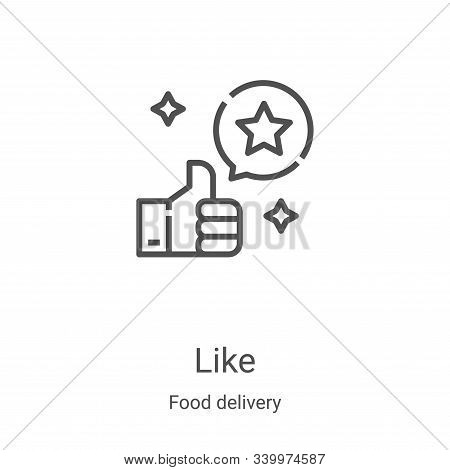 like icon isolated on white background from food delivery collection. like icon trendy and modern li