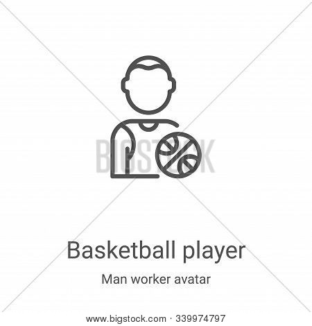 basketball player icon isolated on white background from man worker avatar collection. basketball pl