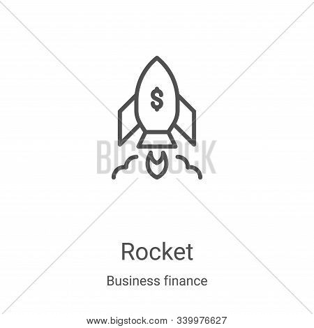 rocket icon isolated on white background from business finance collection. rocket icon trendy and mo