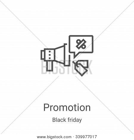 promotion icon isolated on white background from black friday collection. promotion icon trendy and