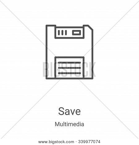 save icon isolated on white background from multimedia collection. save icon trendy and modern save
