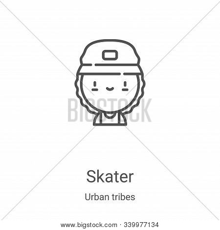skater icon isolated on white background from urban tribes collection. skater icon trendy and modern