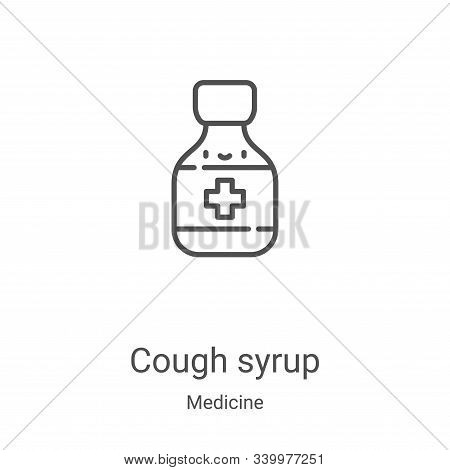 cough syrup icon isolated on white background from medicine collection. cough syrup icon trendy and