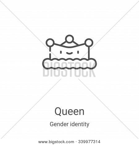 queen icon isolated on white background from gender identity collection. queen icon trendy and moder