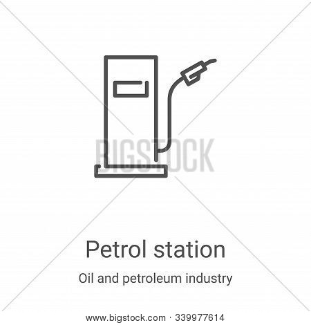 petrol station icon isolated on white background from oil and petroleum industry collection. petrol