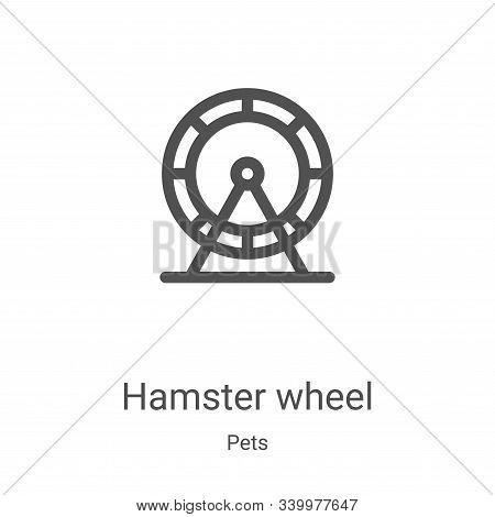 hamster wheel icon isolated on white background from pets collection. hamster wheel icon trendy and