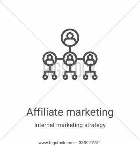 affiliate marketing icon isolated on white background from internet marketing strategy collection. a
