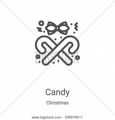 candy icon isolated on white background from christmas collection. candy icon trendy and modern cand