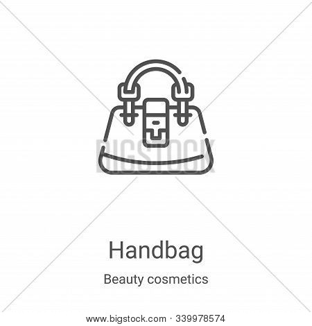 handbag icon isolated on white background from beauty cosmetics collection. handbag icon trendy and