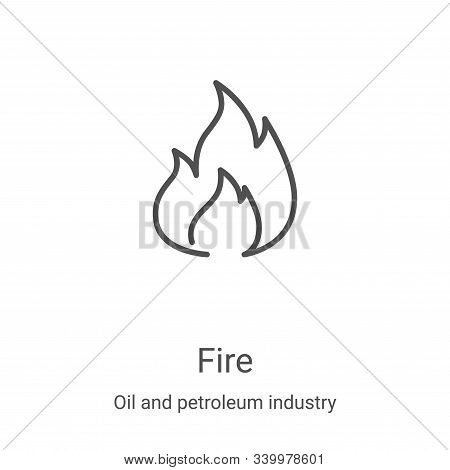 fire icon isolated on white background from oil and petroleum industry collection. fire icon trendy