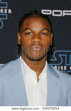 John Boyega at the World premiere of Disney's 'Star Wars: The Rise Of Skywalker' held at the Dolby Theatre in Hollywood, USA on December 16, 2019.
