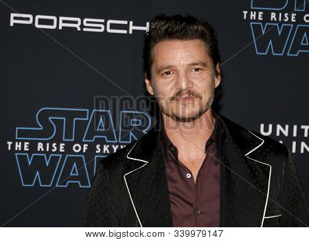 Pedro Pascal at the World premiere of Disney's 'Star Wars: The Rise Of Skywalker' held at the Dolby Theatre in Hollywood, USA on December 16, 2019.