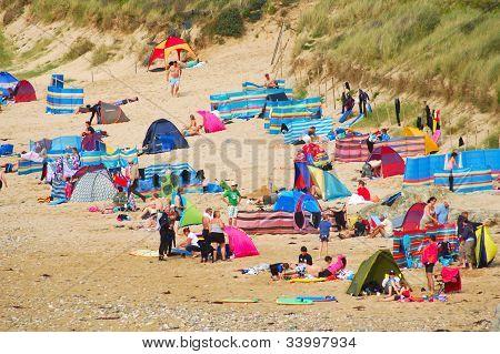 Sunbathers, Fistral Beach, Newquay