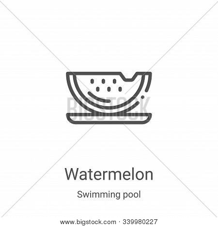 watermelon icon isolated on white background from swimming pool collection. watermelon icon trendy a