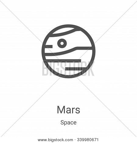 mars icon isolated on white background from space collection. mars icon trendy and modern mars symbo