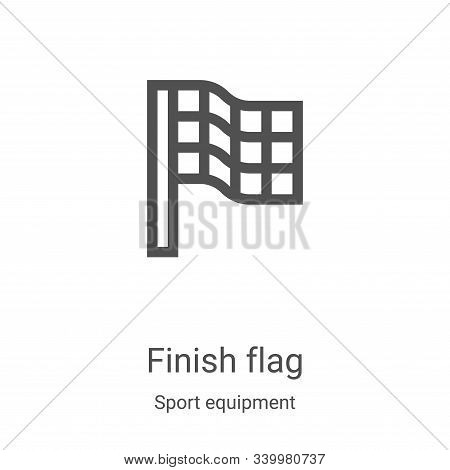 finish flag icon isolated on white background from sport equipment collection. finish flag icon tren