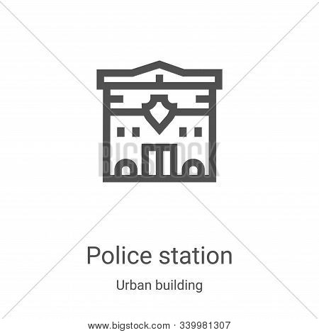 police station icon isolated on white background from urban building collection. police station icon