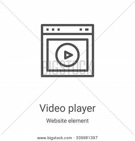 video player icon isolated on white background from website element collection. video player icon tr