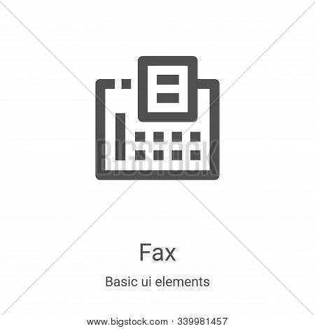 fax icon isolated on white background from basic ui elements collection. fax icon trendy and modern