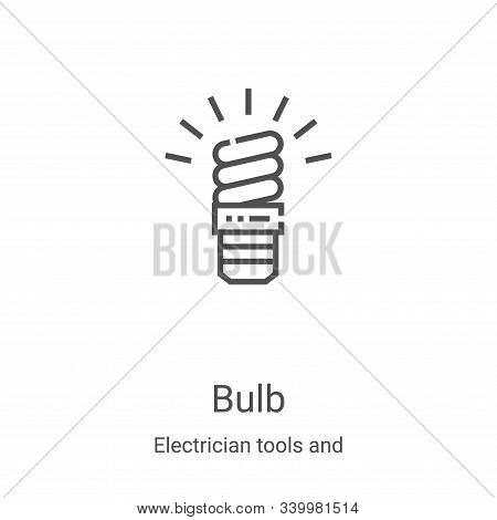bulb icon isolated on white background from electrician tools and elements collection. bulb icon tre
