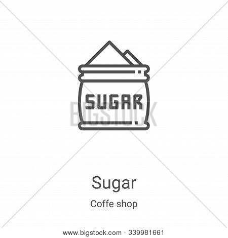 sugar icon isolated on white background from coffe shop collection. sugar icon trendy and modern sug