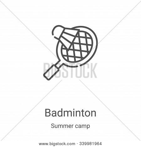 badminton icon isolated on white background from summer camp collection. badminton icon trendy and m