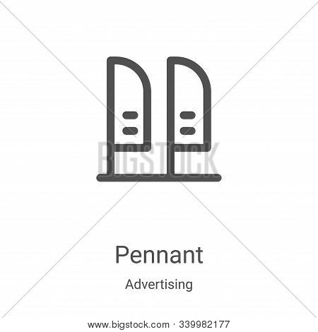 pennant icon isolated on white background from advertising collection. pennant icon trendy and moder