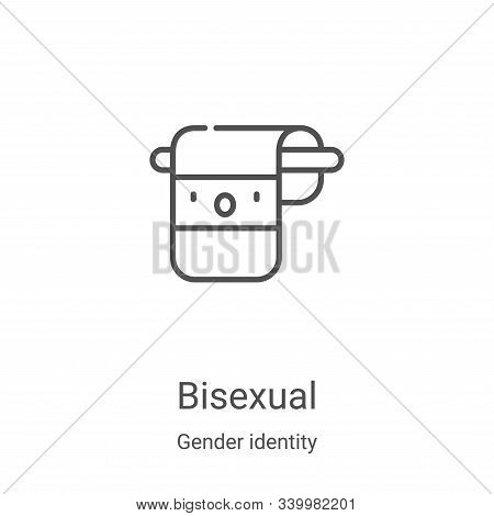 bisexual icon isolated on white background from gender identity collection. bisexual icon trendy and