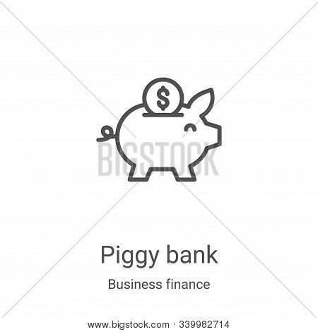 piggy bank icon isolated on white background from business finance collection. piggy bank icon trend