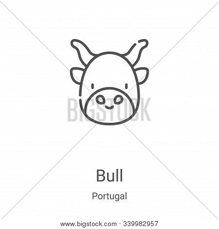 bull icon isolated on white background from portugal collection. bull icon trendy and modern bull sy