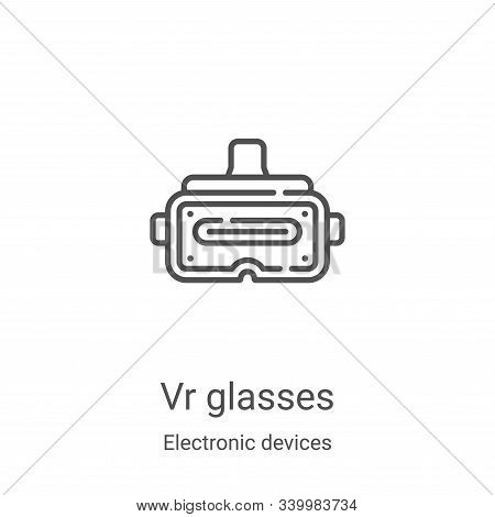 vr glasses icon isolated on white background from electronic devices collection. vr glasses icon tre