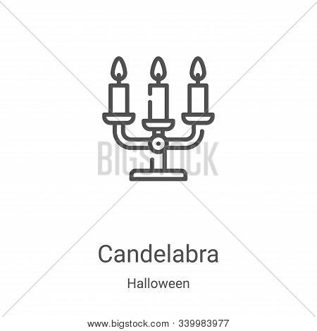 candelabra icon isolated on white background from halloween collection. candelabra icon trendy and m