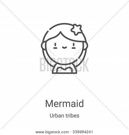 mermaid icon isolated on white background from urban tribes collection. mermaid icon trendy and mode