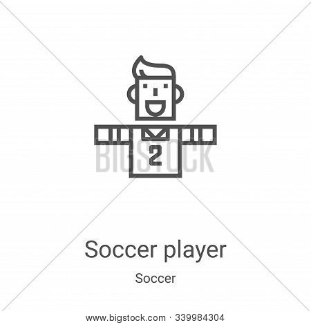soccer player icon isolated on white background from soccer collection. soccer player icon trendy an