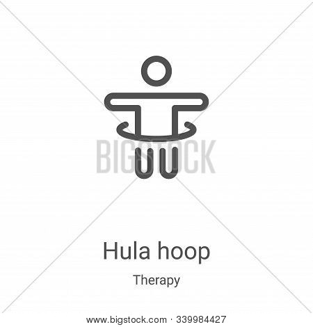 hula hoop icon isolated on white background from therapy collection. hula hoop icon trendy and moder