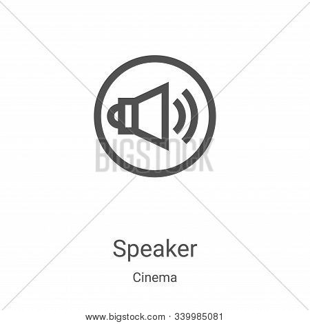speaker icon isolated on white background from cinema collection. speaker icon trendy and modern spe