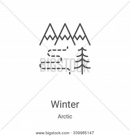 winter icon isolated on white background from arctic collection. winter icon trendy and modern winte