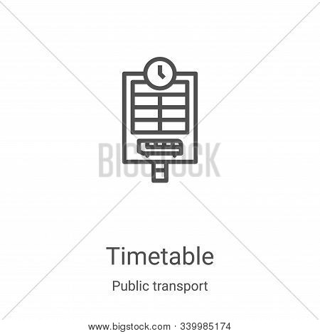 timetable icon isolated on white background from public transport collection. timetable icon trendy