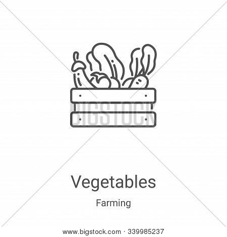 vegetables icon isolated on white background from farming collection. vegetables icon trendy and mod
